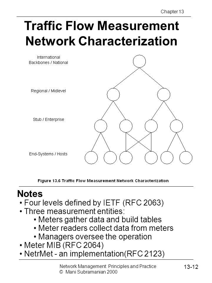 Traffic Flow Measurement Network Characterization