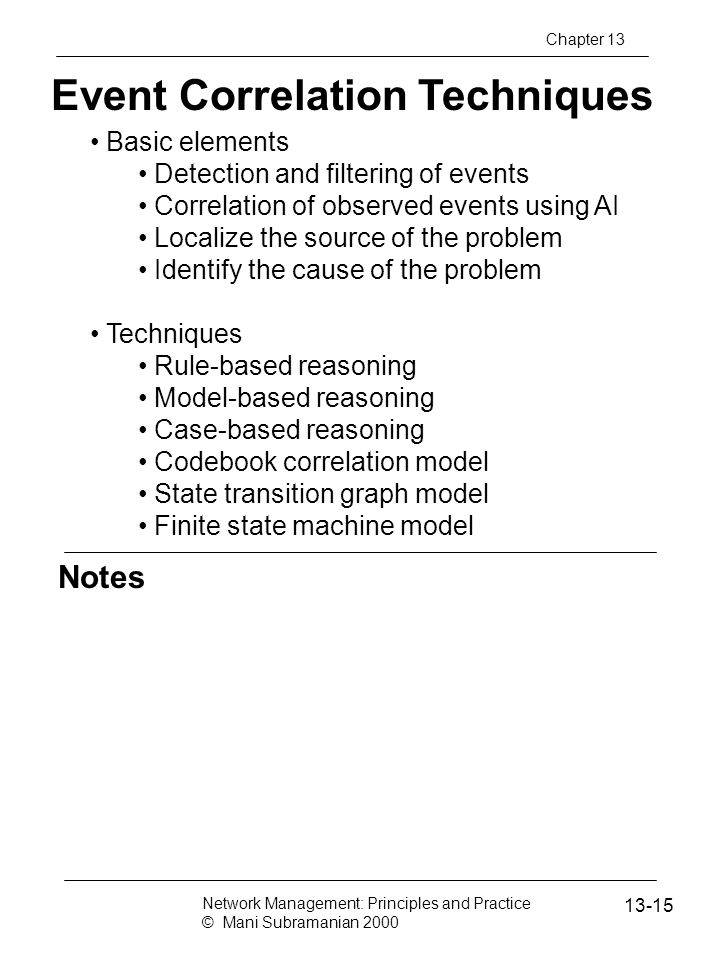 Event Correlation Techniques