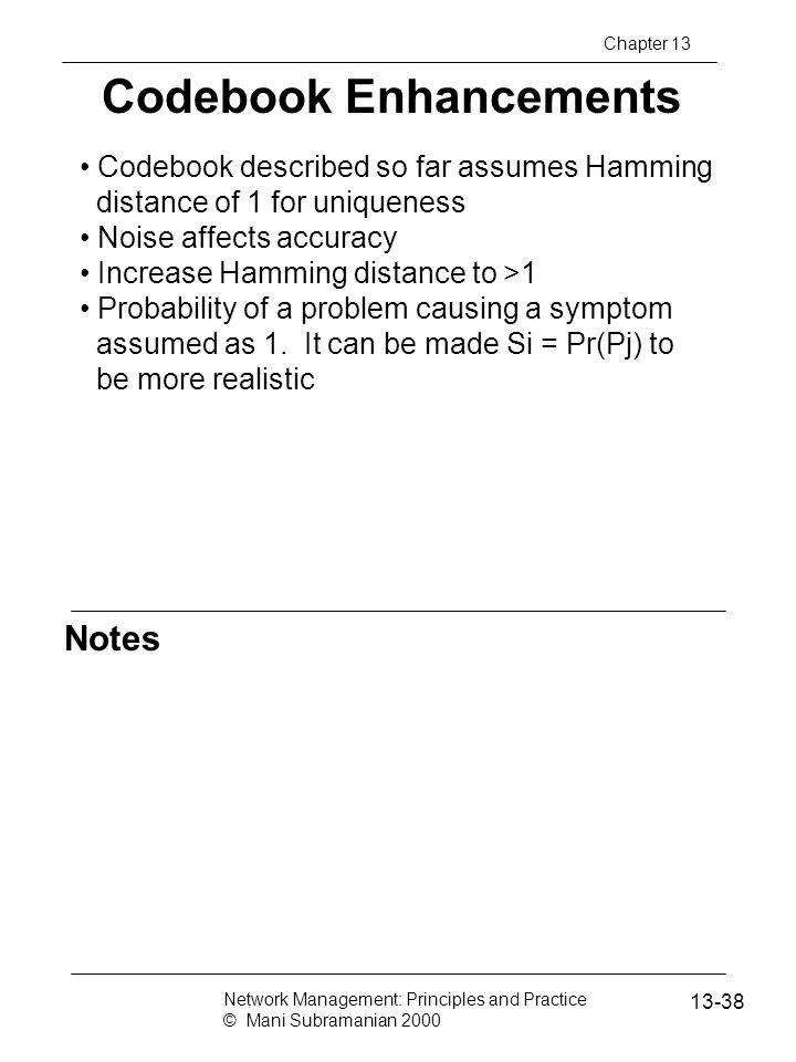 Codebook Enhancements