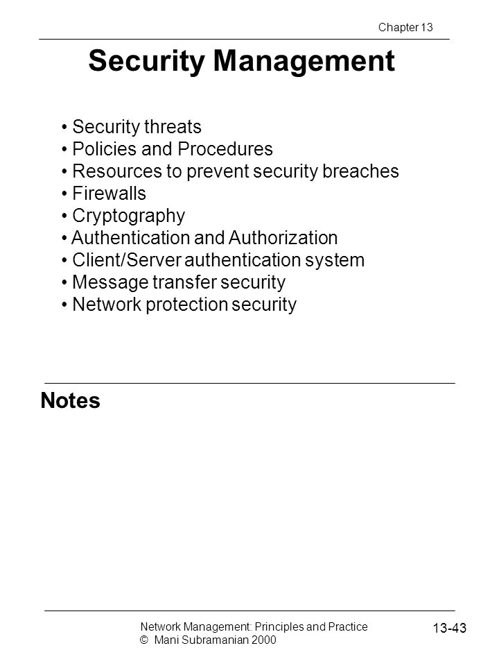 Security Management Notes Security threats Policies and Procedures