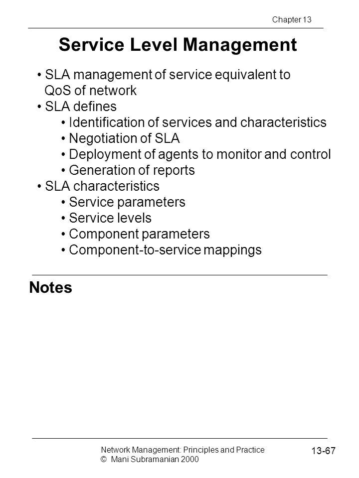 Service Level Management