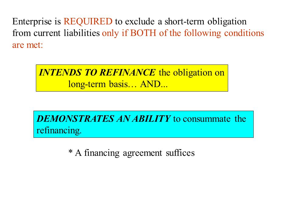 Enterprise is REQUIRED to exclude a short-term obligation
