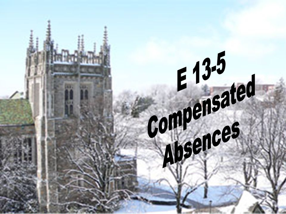 E 13-5 Compensated Absences