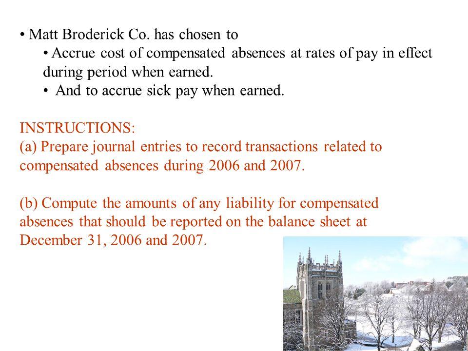 Matt Broderick Co. has chosen to