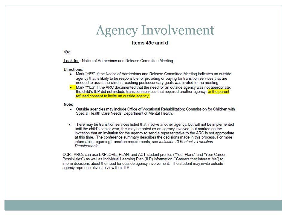 Agency Involvement Apr-17