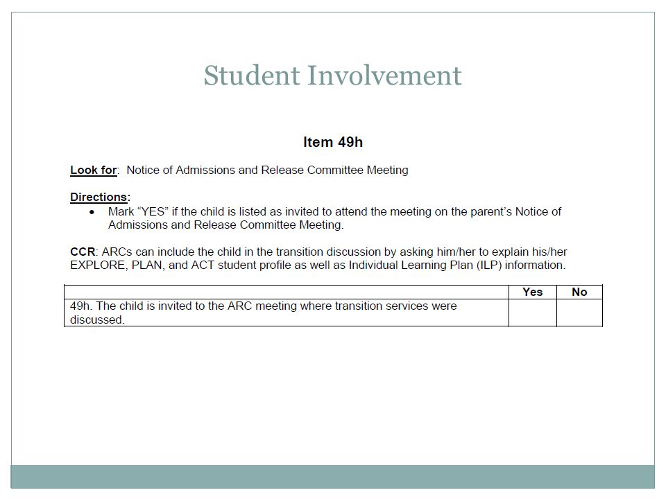 Student Involvement Apr-17 For 49h, you will: