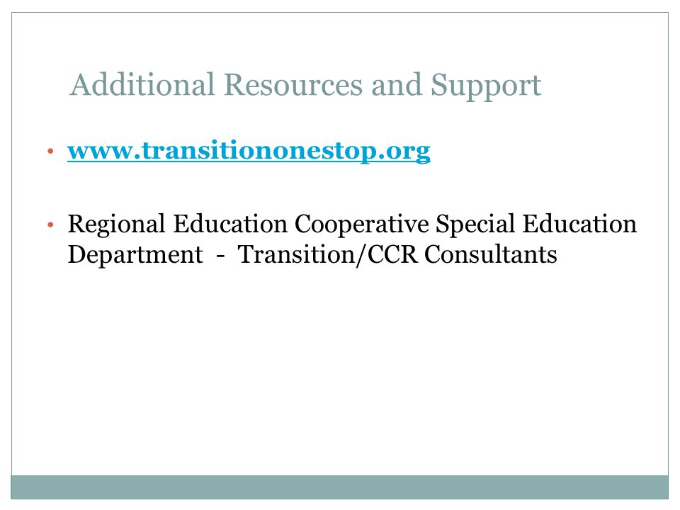Additional Resources and Support