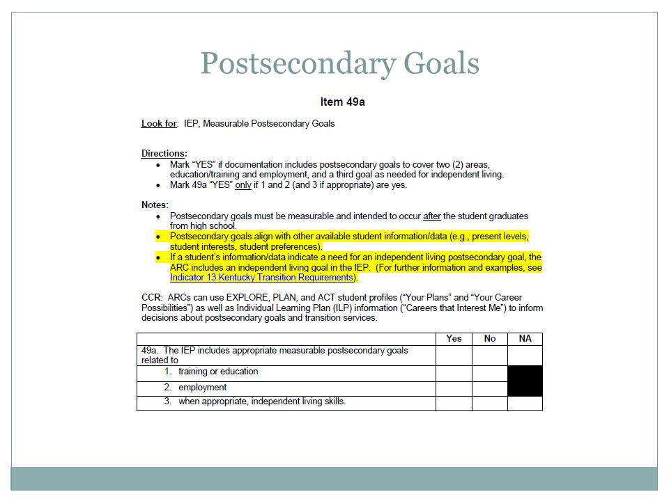 Postsecondary Goals Apr-17