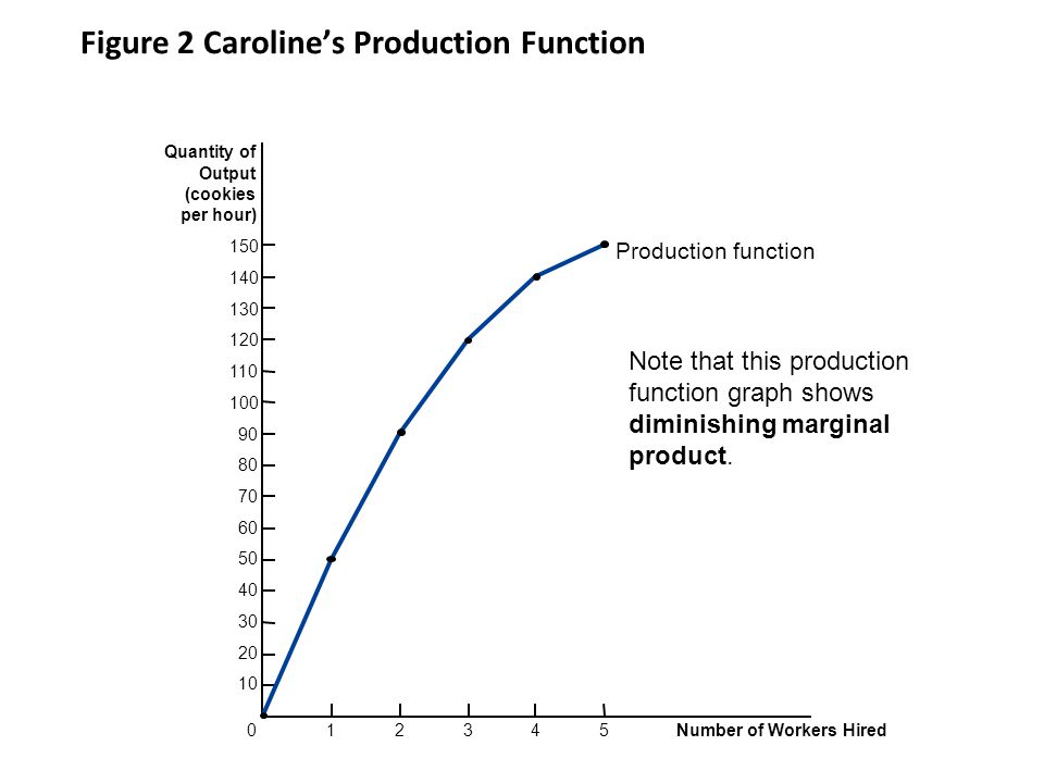 Figure 2 Caroline's Production Function