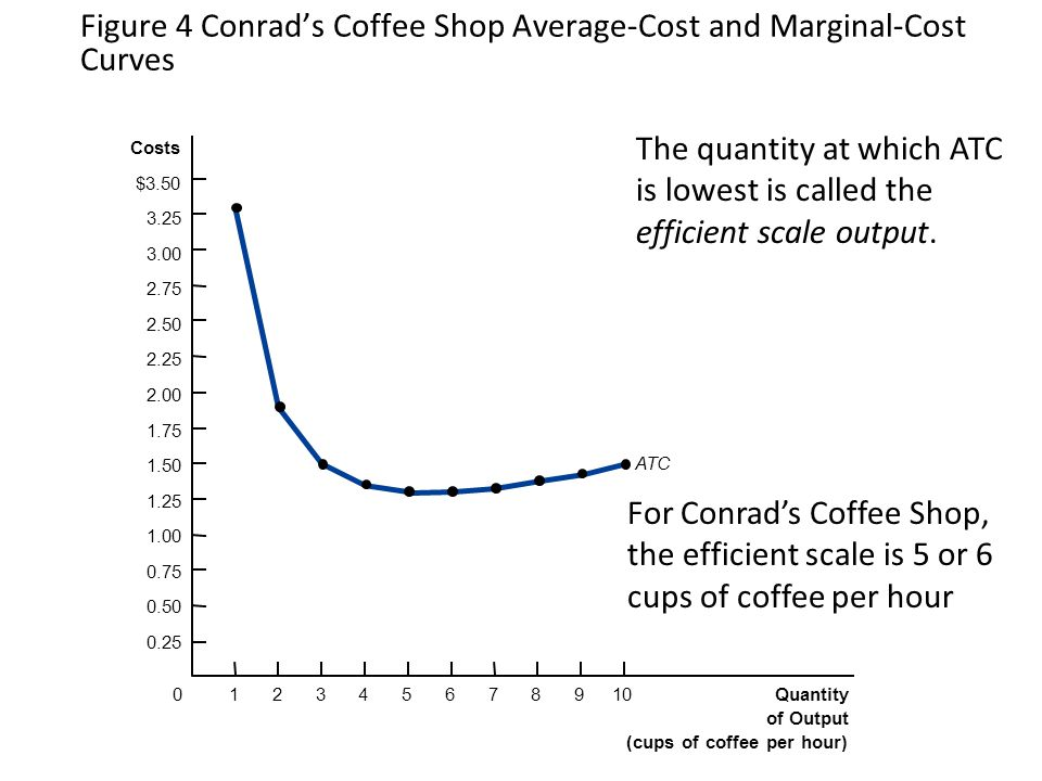 Figure 4 Conrad's Coffee Shop Average-Cost and Marginal-Cost Curves
