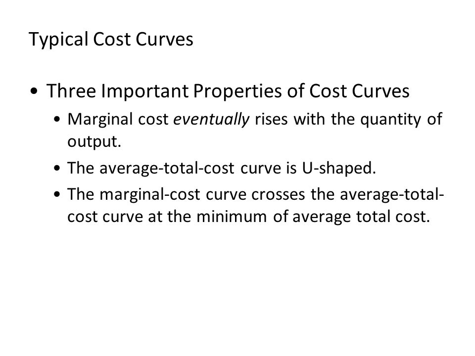 Three Important Properties of Cost Curves