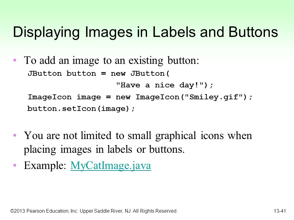 Displaying Images in Labels and Buttons
