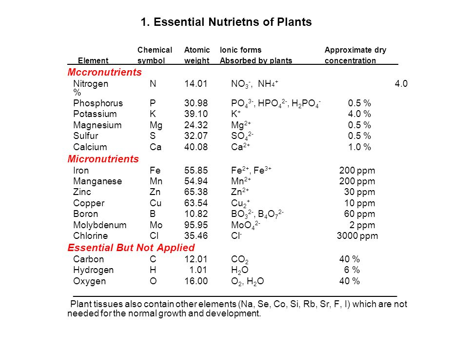 1. Essential Nutrietns of Plants