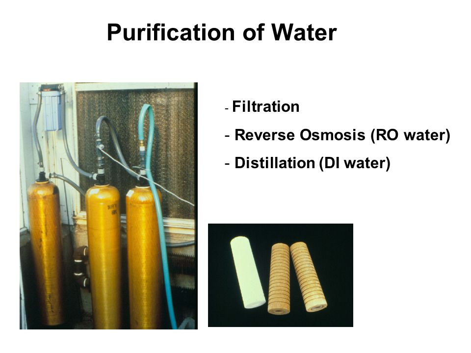 Purification of Water Reverse Osmosis (RO water)