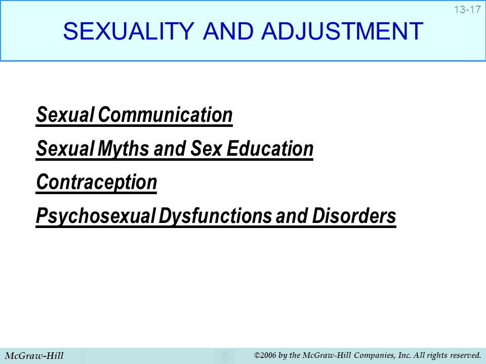 SEXUALITY AND ADJUSTMENT
