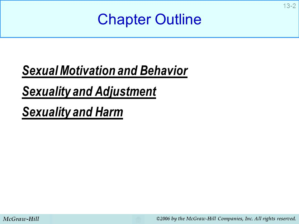 Chapter Outline Sexual Motivation and Behavior