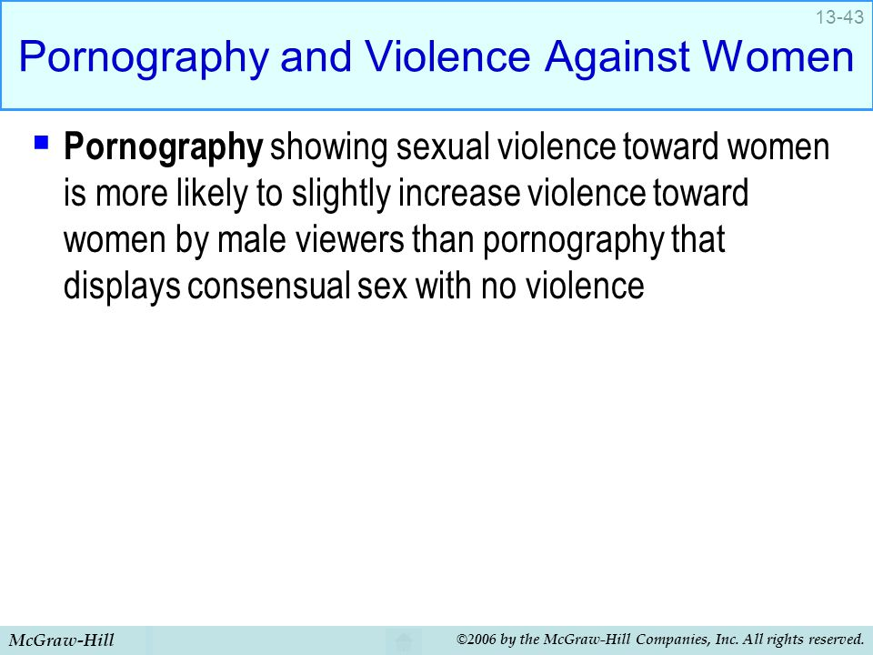 Pornography and Violence Against Women