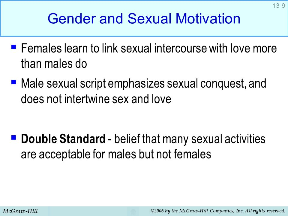 Gender and Sexual Motivation