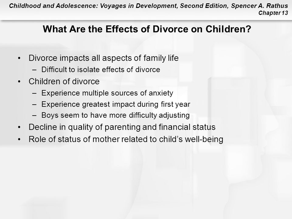 What Are the Effects of Divorce on Children