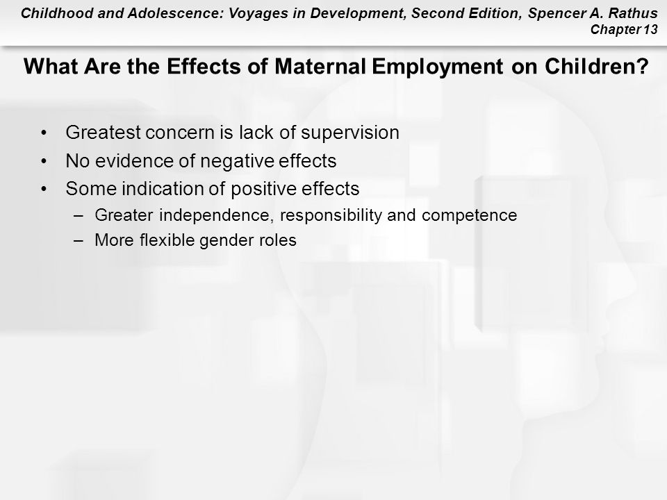 What Are the Effects of Maternal Employment on Children