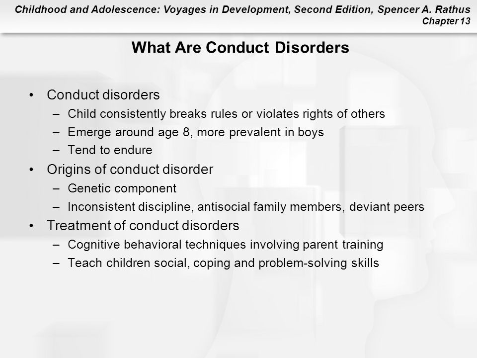 What Are Conduct Disorders