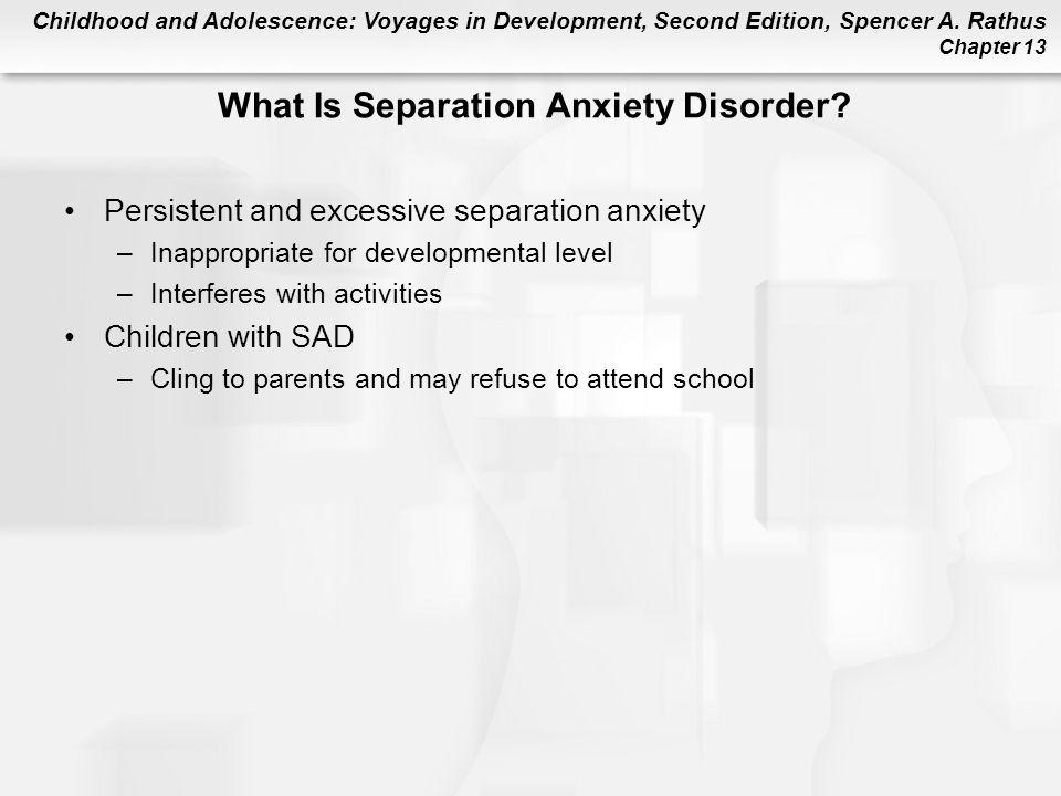 What Is Separation Anxiety Disorder
