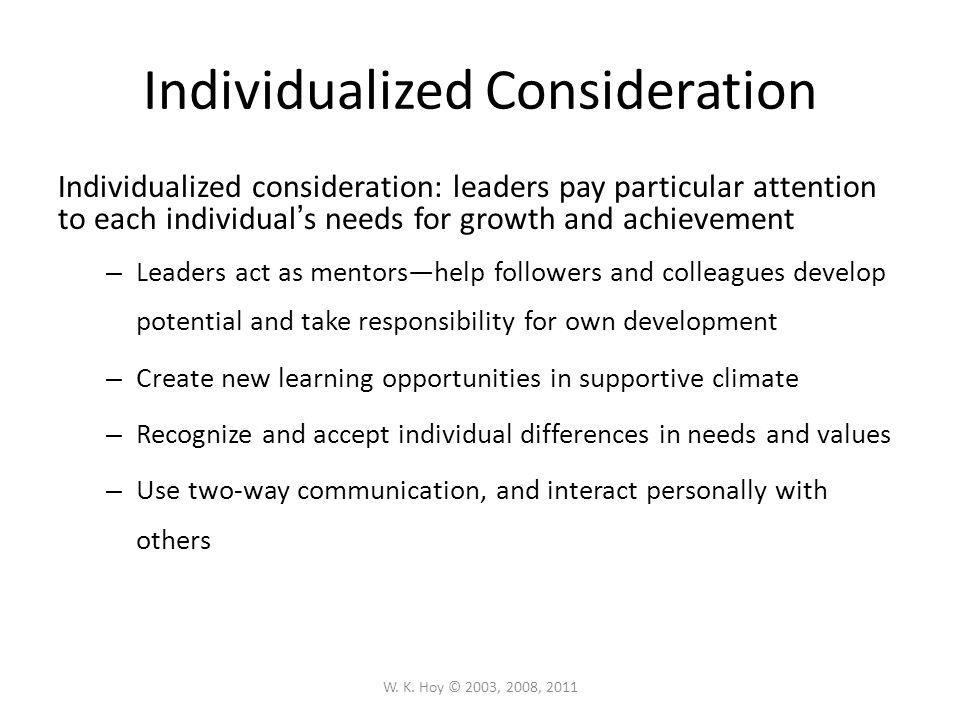 Individualized Consideration