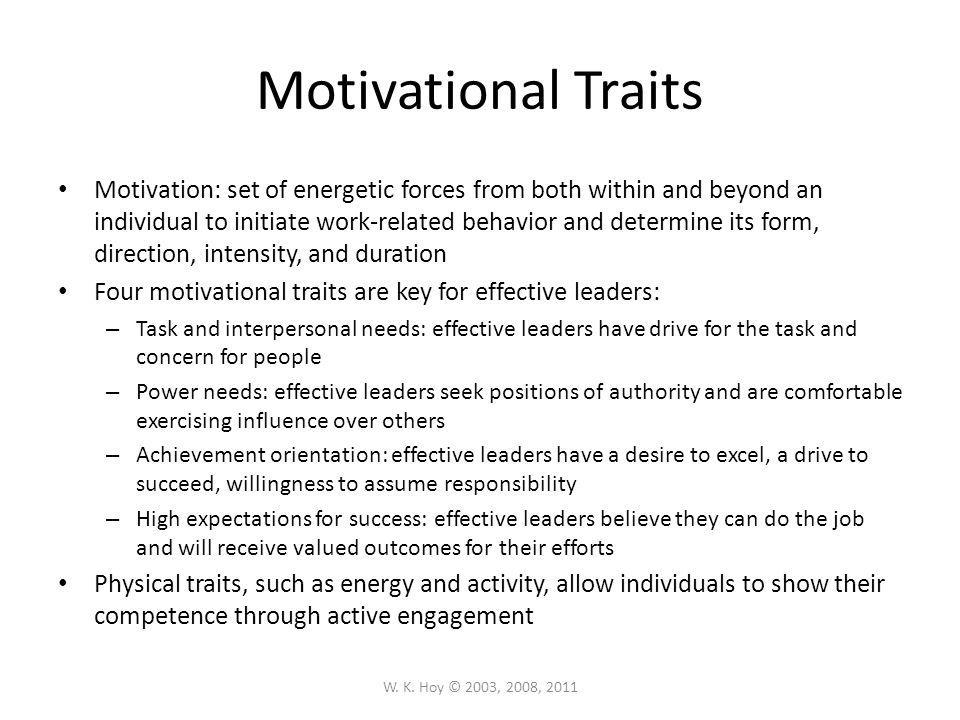 Motivational Traits