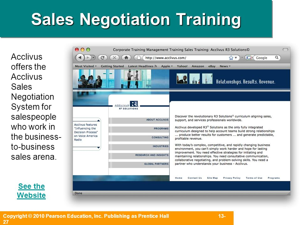 Sales Negotiation Training