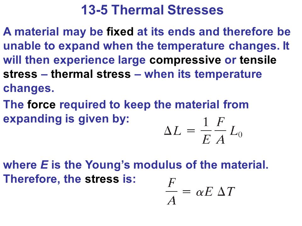 13-5 Thermal Stresses