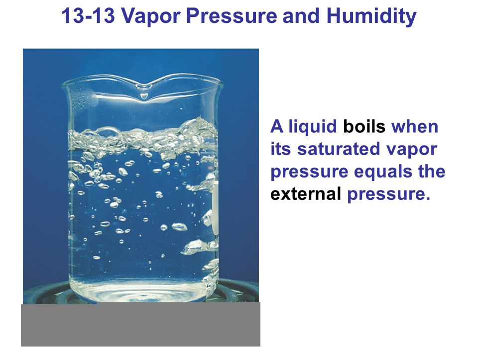 13-13 Vapor Pressure and Humidity