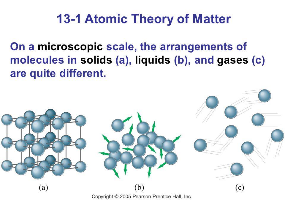 13-1 Atomic Theory of Matter