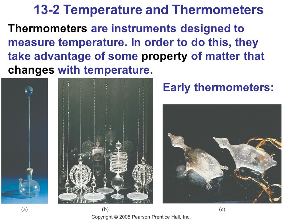 13-2 Temperature and Thermometers