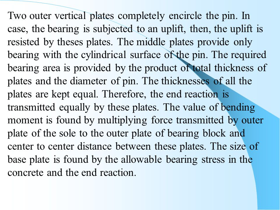 Two outer vertical plates completely encircle the pin