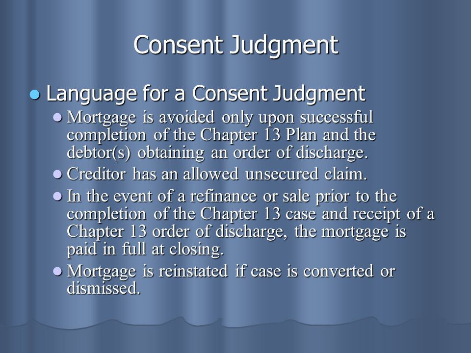 Consent Judgment Language for a Consent Judgment