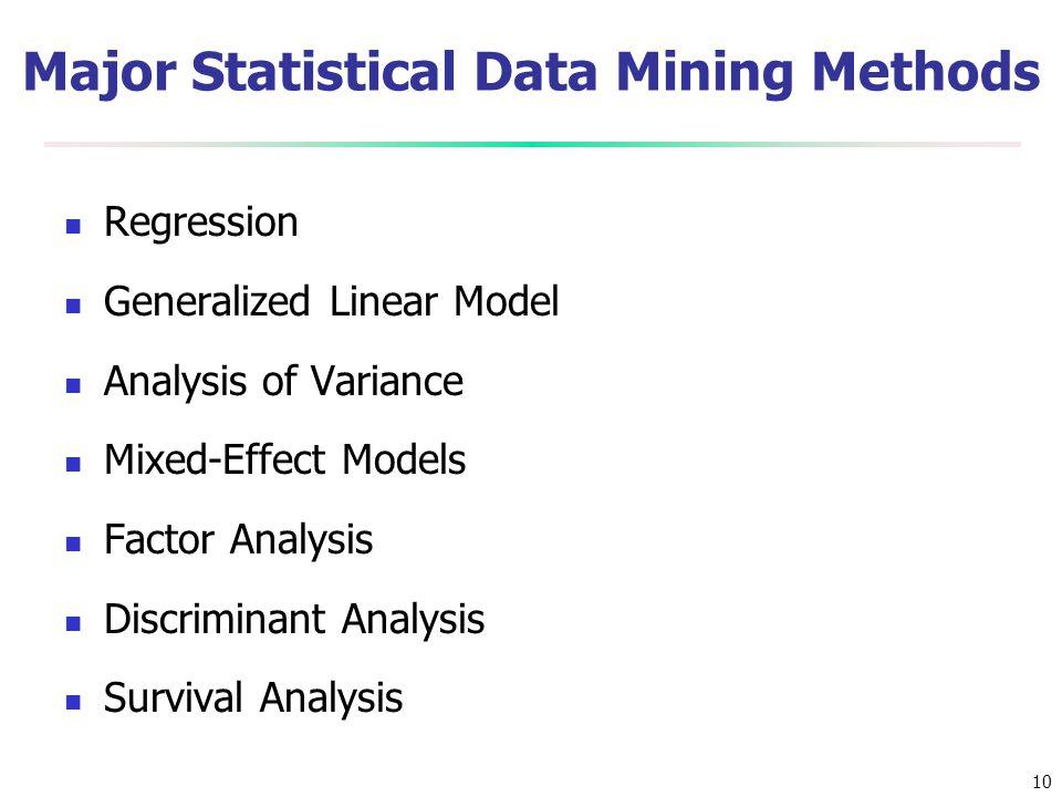 Major Statistical Data Mining Methods