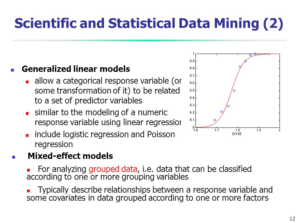 Scientific and Statistical Data Mining (2)