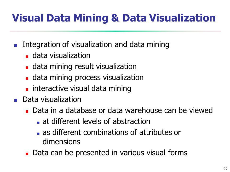 Visual Data Mining & Data Visualization