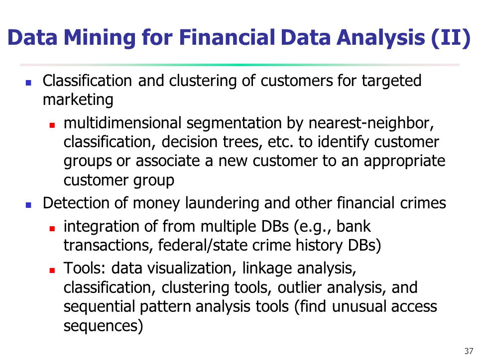 Data Mining for Financial Data Analysis (II)