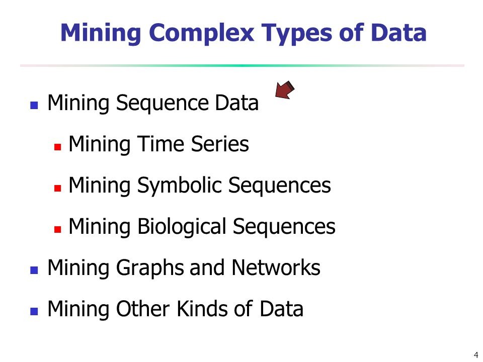 Mining Complex Types of Data