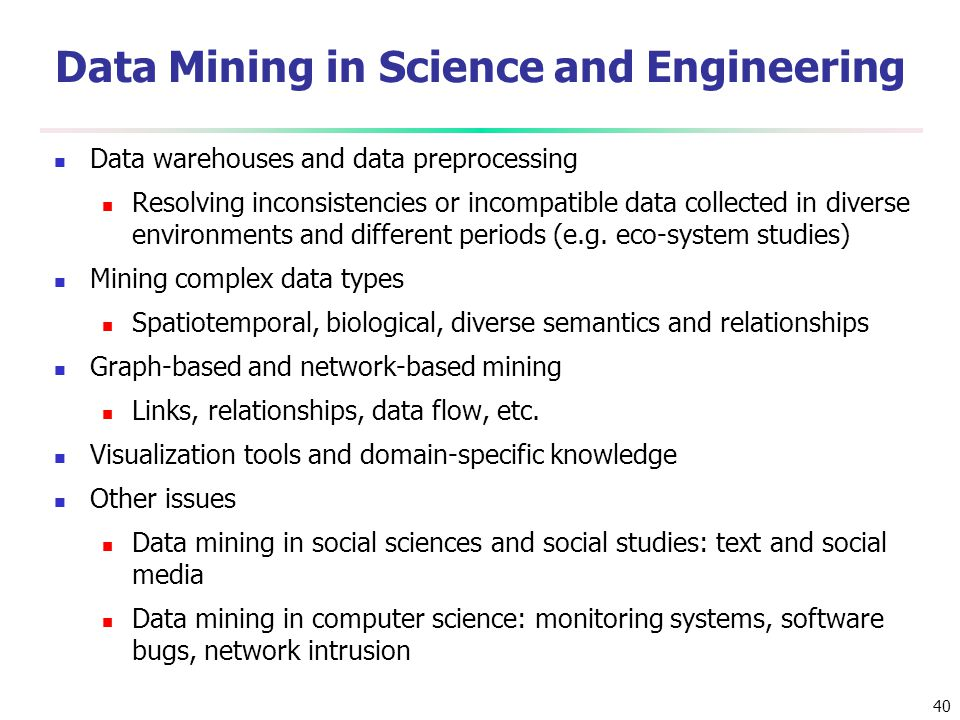 Data Mining in Science and Engineering