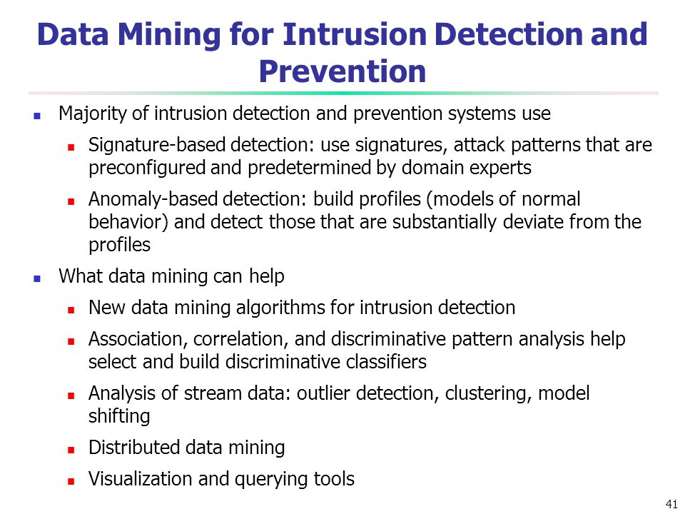 Data Mining for Intrusion Detection and Prevention