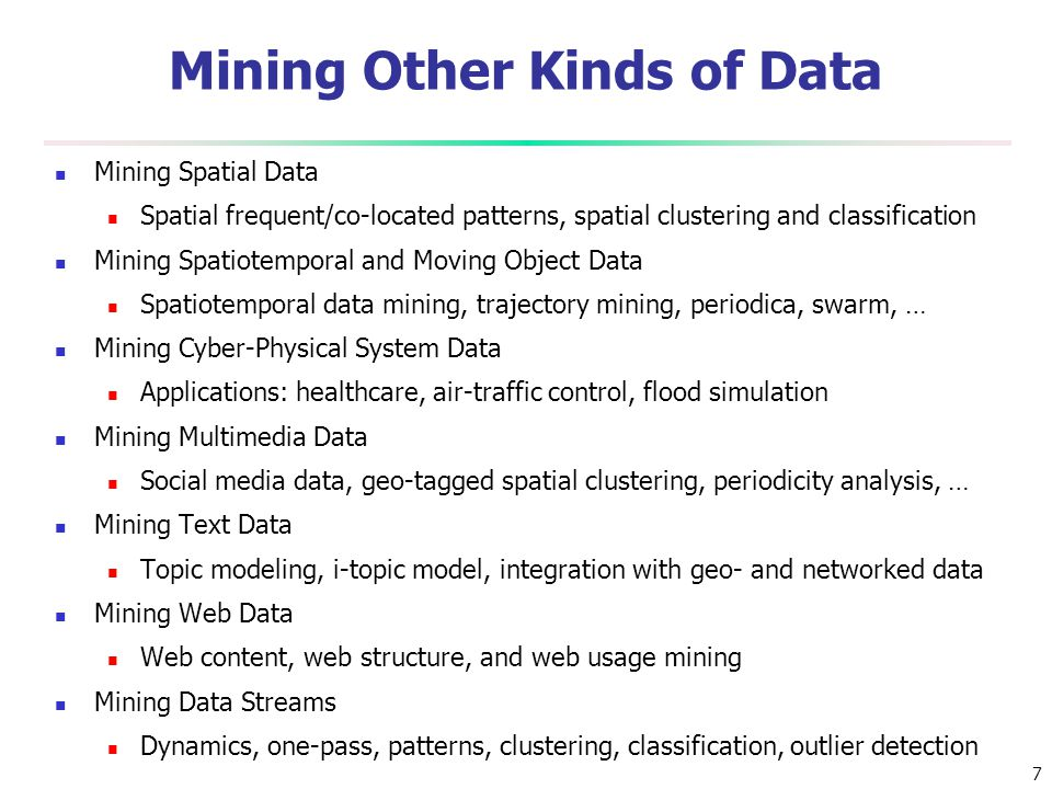 Mining Other Kinds of Data