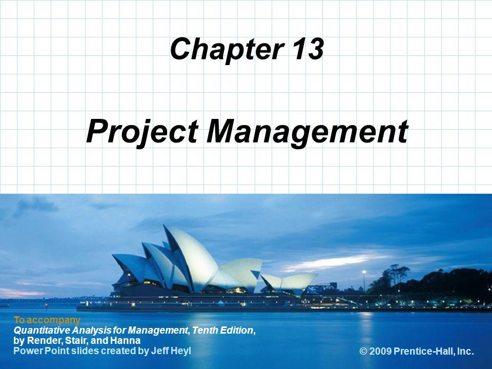 Project Management Chapter 13