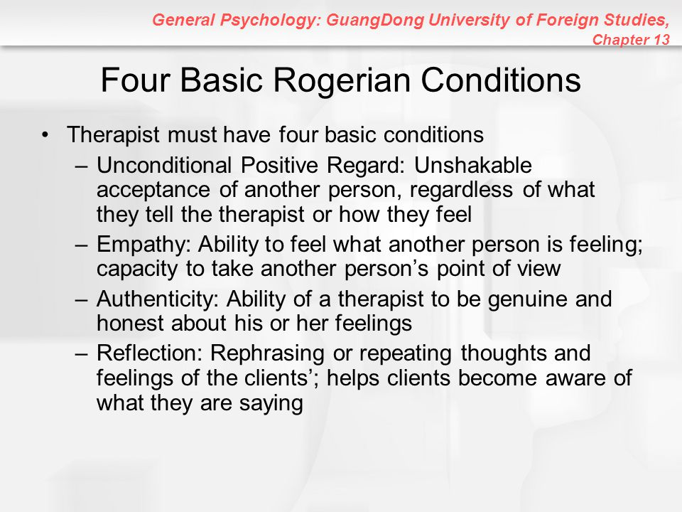 Four Basic Rogerian Conditions