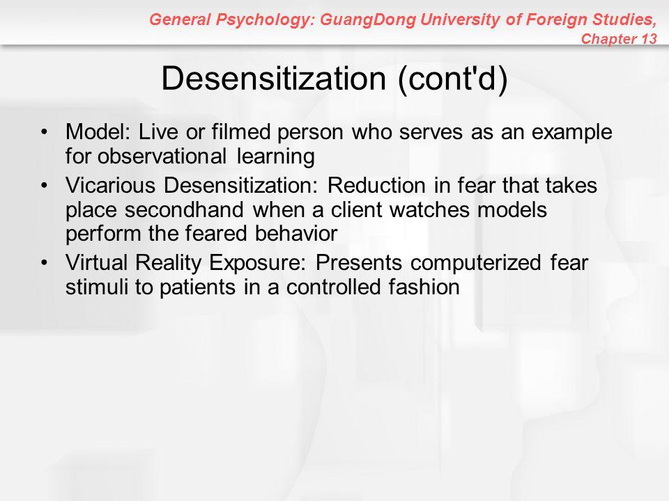 Desensitization (cont d)