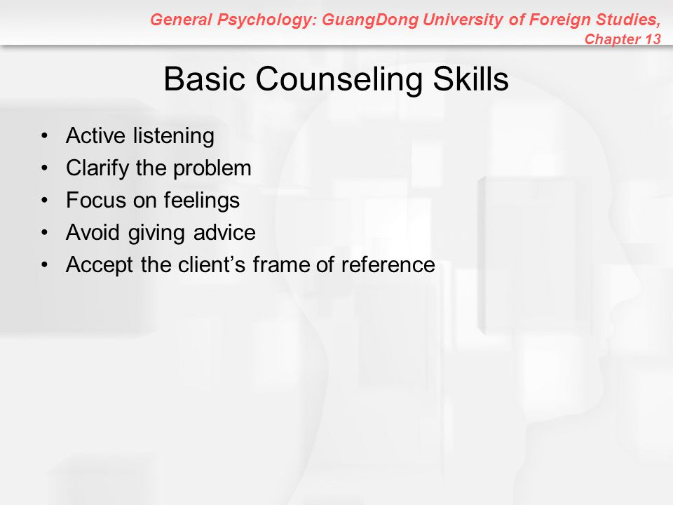 Basic Counseling Skills