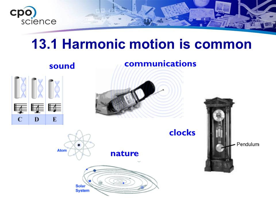 13.1 Harmonic motion is common