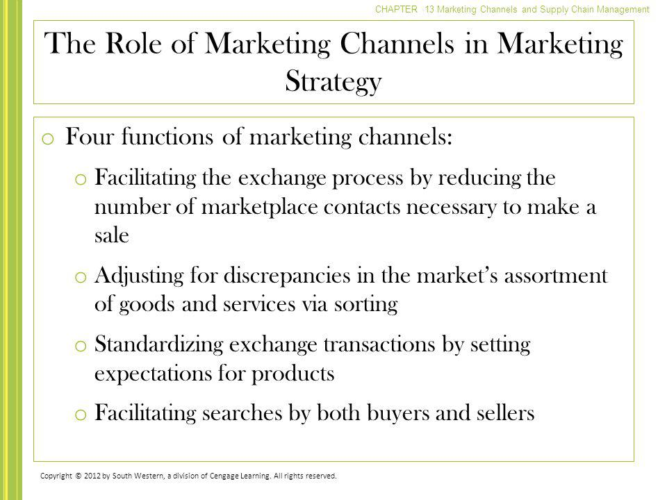 The Role of Marketing Channels in Marketing Strategy