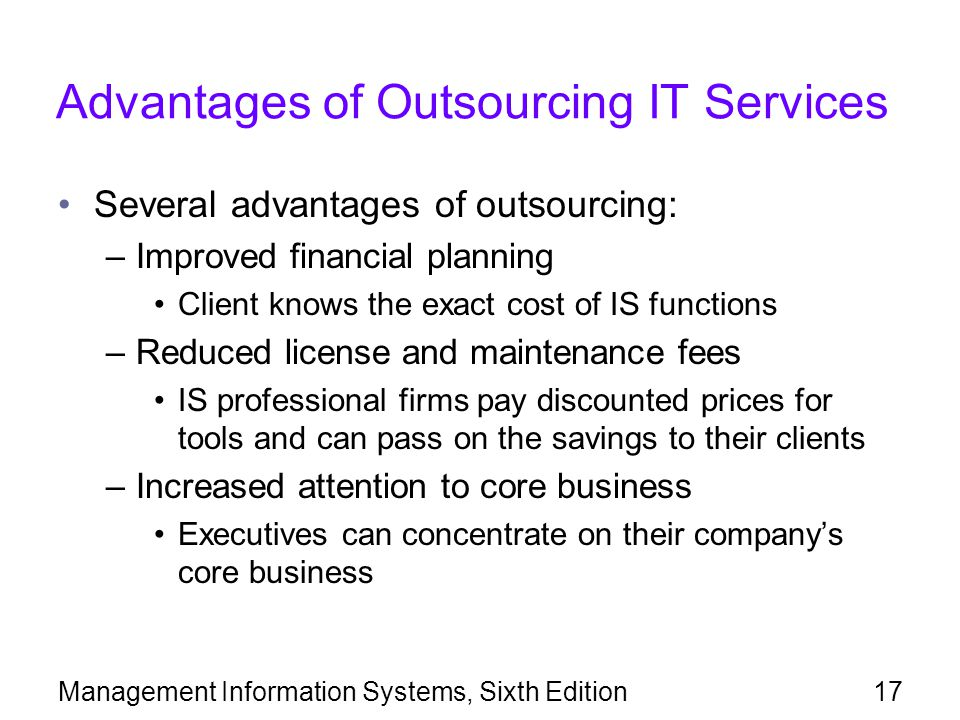 Advantages of Outsourcing IT Services